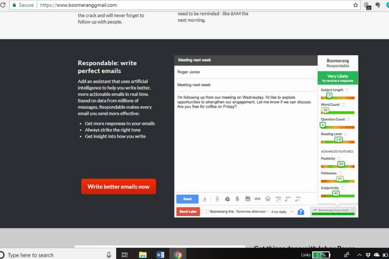 Boomerang for gmail planowanie wysyłki maili